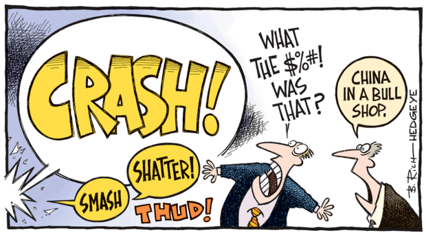 China crash cartoon